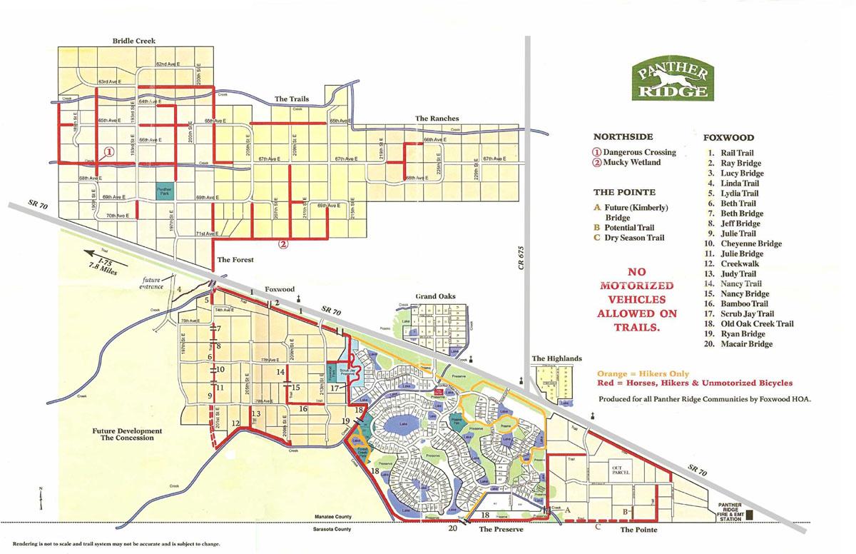 Panther Ridge Trail Map Web